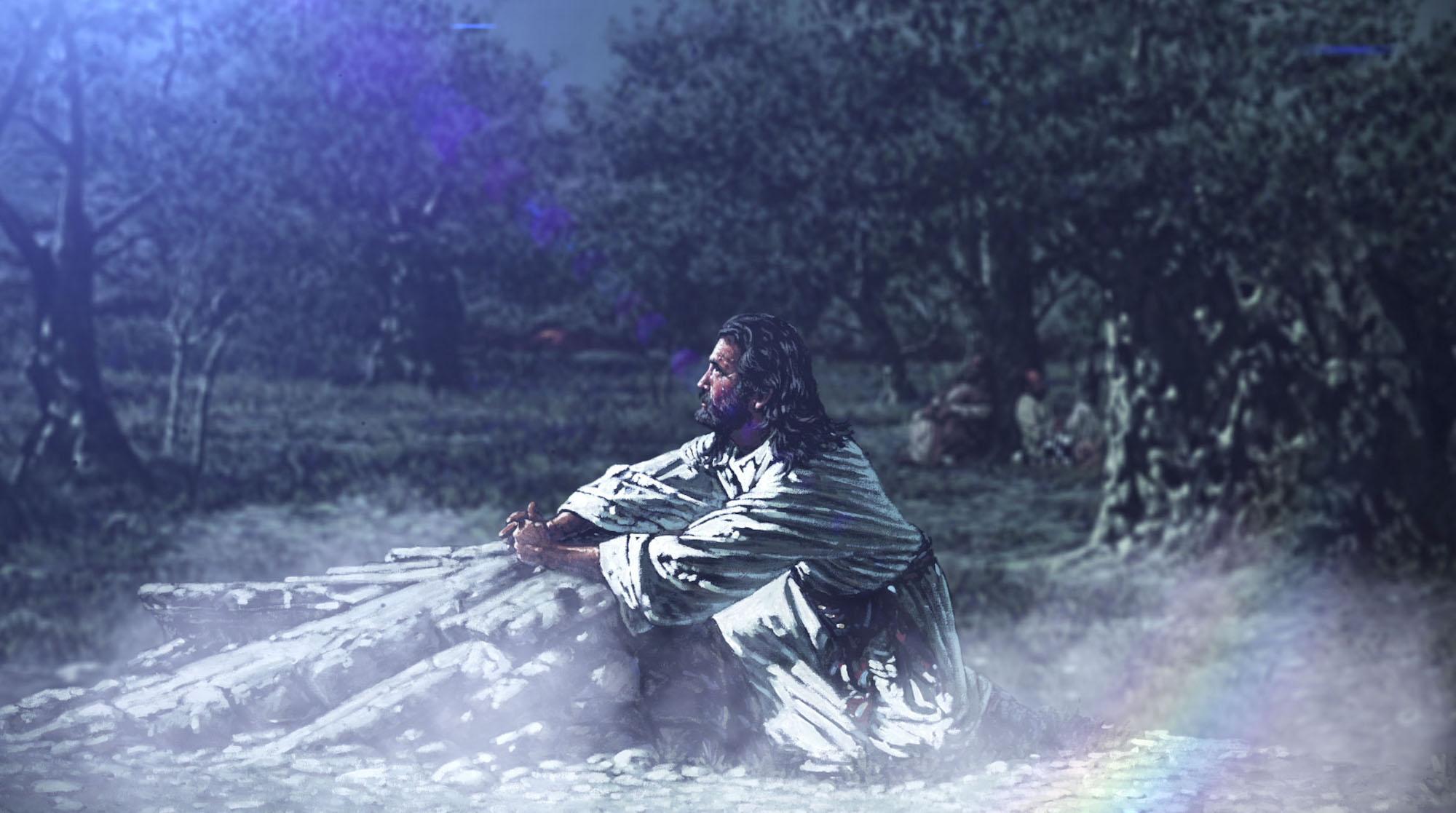 Jesus Prays In The Garden Of Gethsemane Drive Thru History